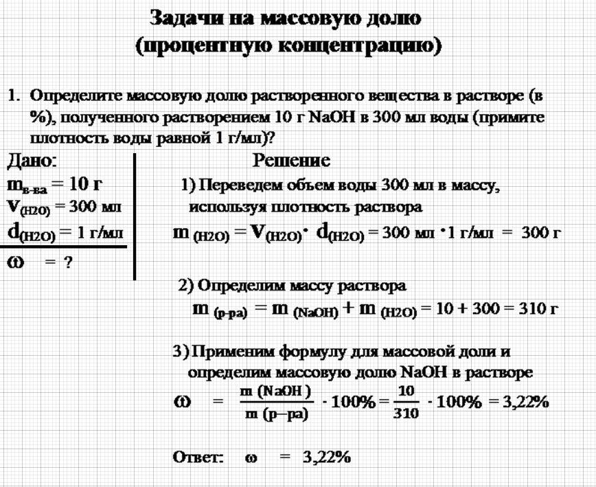 Решение задач по химии массовая доля растворов задачи с решениями по закону ампера