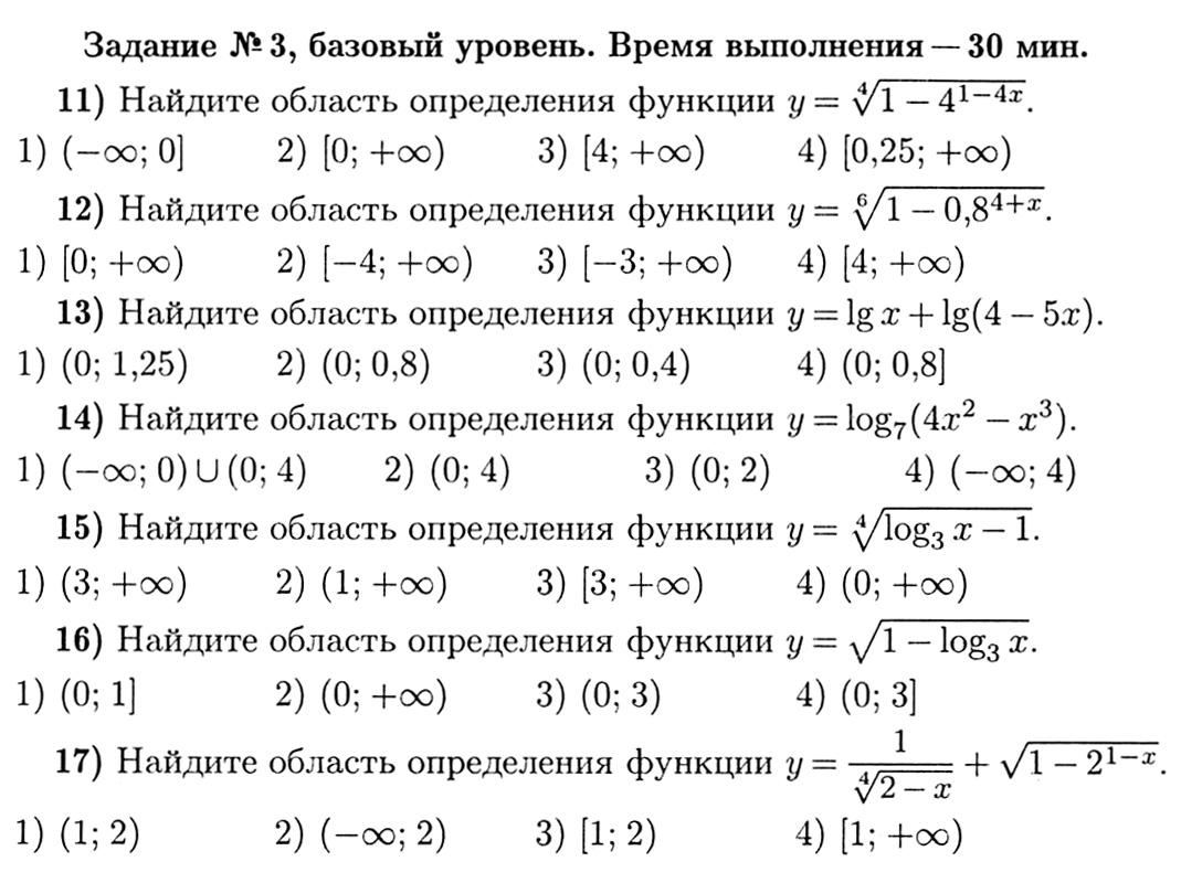 Решебник область функции i определения